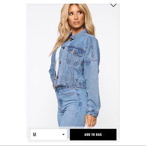 Fashion Nova Sweet Desire Denim Jacket size M